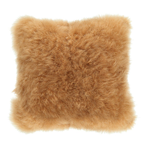 Cashmere Fur Pillow Golden Brown