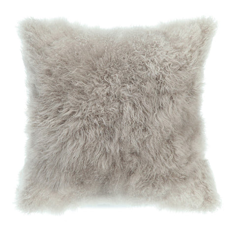 Cashmere Fur Pillow Light Grey