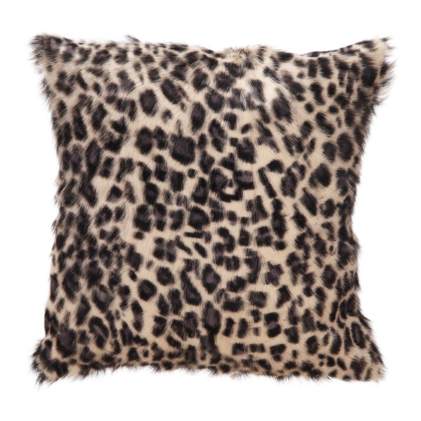 Spotted Goat Fur Pillow Blue Leopard
