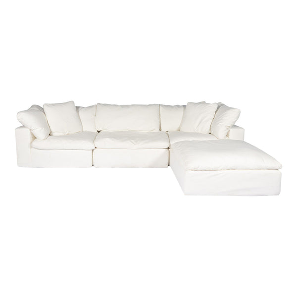 Clay Lounge Modular Sectional Livesmart Fabric Cream