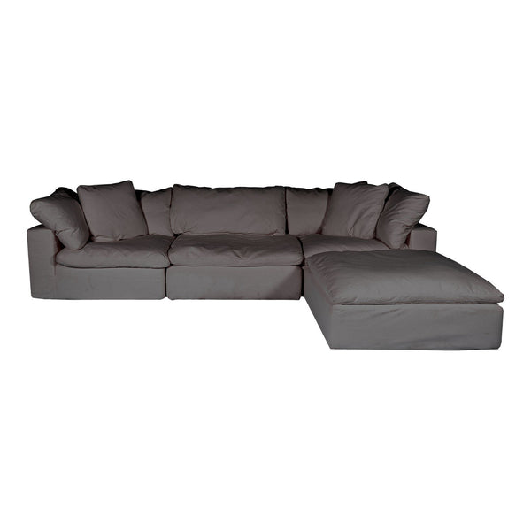 Clay Lounge Modular Sectional Livesmart Fabric Light Grey
