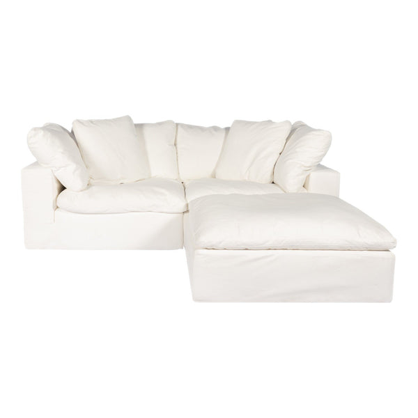 Clay Nook Modular Sectional Livesmart Fabric Cream