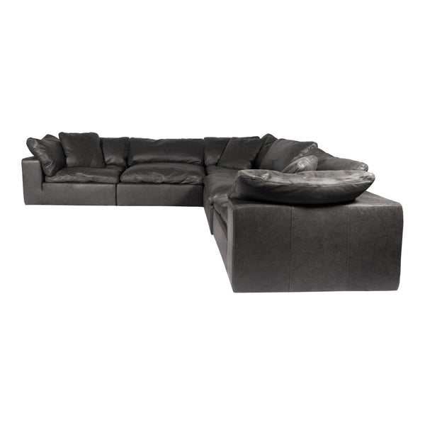 Clay Classic L Modular Sectional Nubuck Leather Black