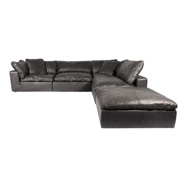 Clay Dream Modular Sectional Nubuck Leather Black