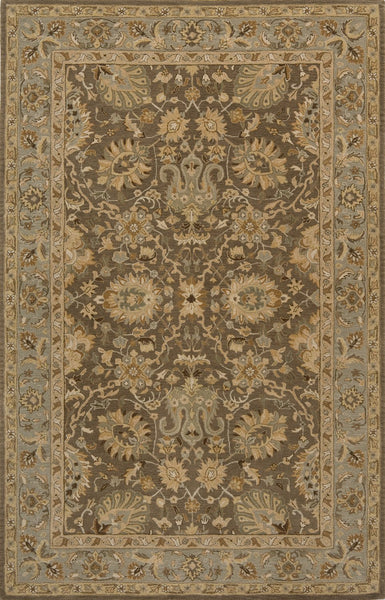 Zarin Hand Tufted Lamb's Wool Indian Area Rug