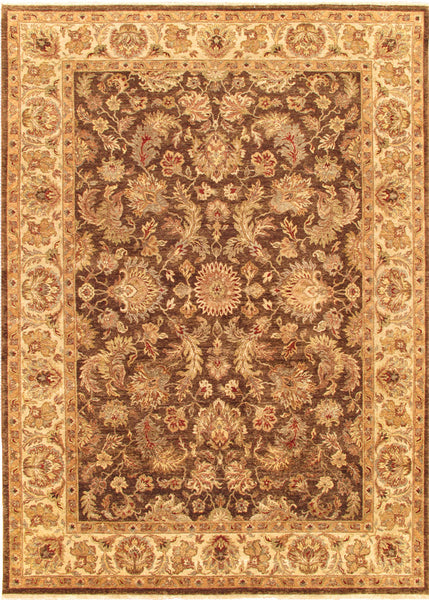 Hand-Knotted Agra Lamb's Wool Beige Rug