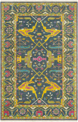 Hand Knotted Antique Area Rug