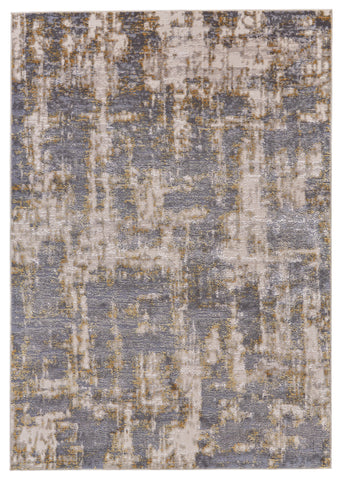 Vanhorn Gold/Sterling Machine Made Area Rug