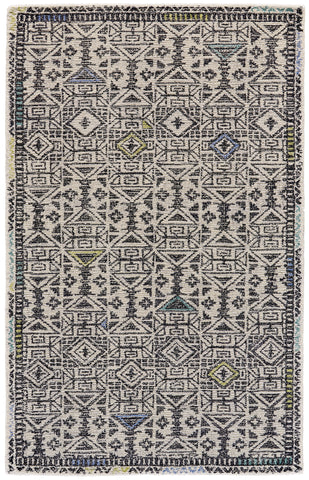 Binada Black/Line Tufted Area Rug