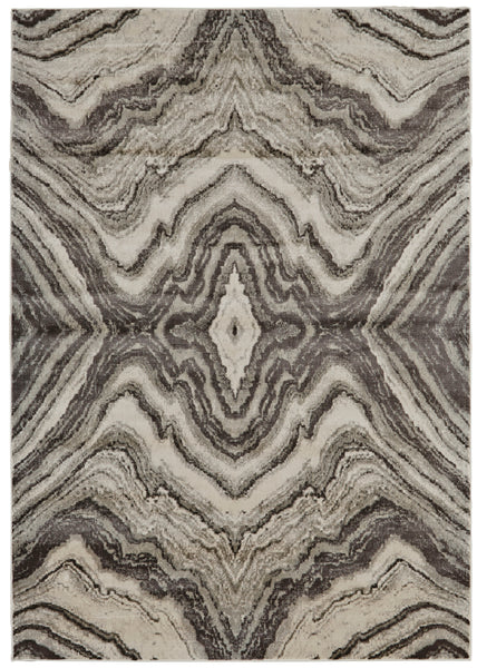 Alessandria Birch/Sterling Machine Made Area Rug