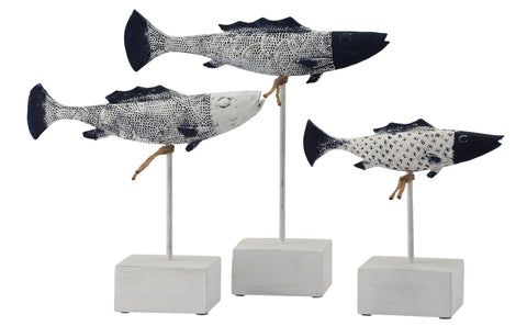 Antique Fish Statues, Set of 2