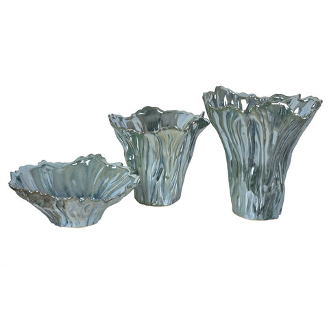 Quinton Organic Shaped Vases & Bowl