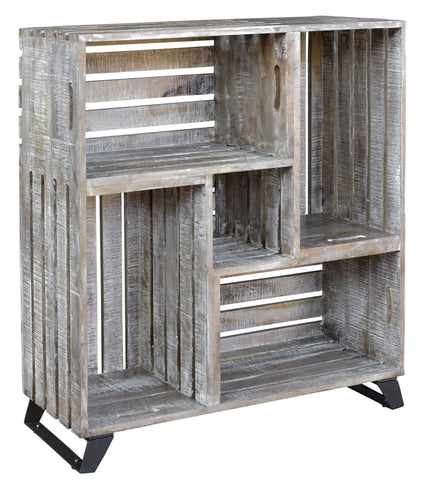 Reclaimed Crates Bookcase