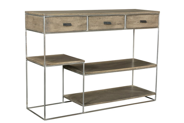 3 Drawer Offset Tier Console Table