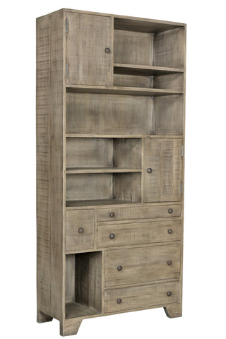 2 Door 5 Drawer Bookcase