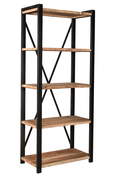 Natural Acacia And Iron Etagere