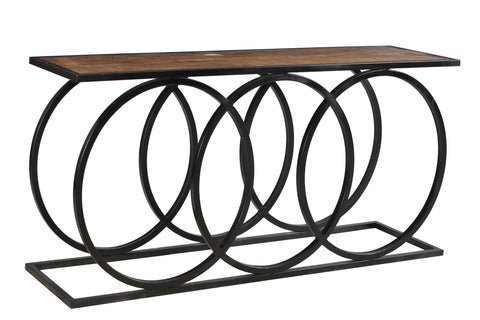 3 Circles Metal And Wood Console