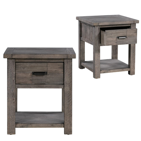 1 Drawer Rectangle End Table