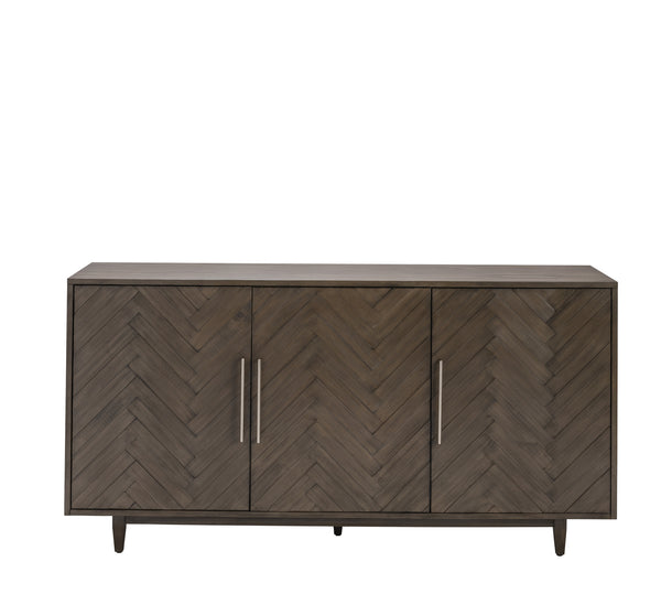 3 Door Chevron Pattern Sideboard