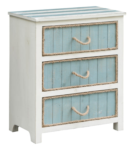 3 Drawer Rope Accent Chest