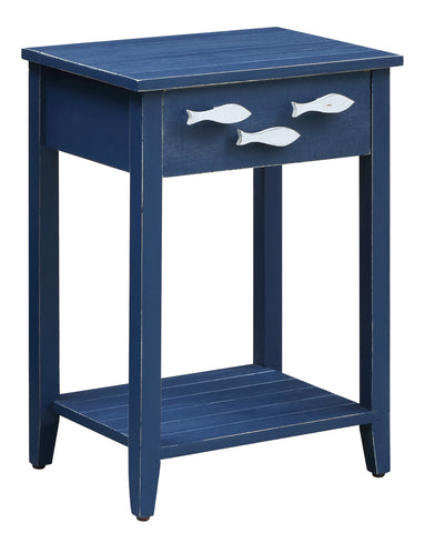 1 Drawer Accent Table With Fish Hardware
