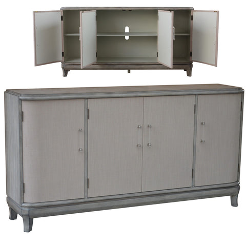 Acrylic Hardware Grey Wash Sideboard