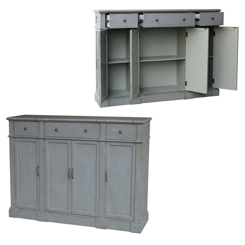 3 Drawer 4 Door Tall Sideboard
