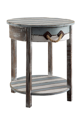 1 Drawer Weathered Wood Accent Table