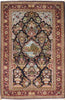 Hand-Knotted Kashan Design Wool Area Rug