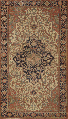 Hand-Knotted Antique Persian Ferahan Area Rug