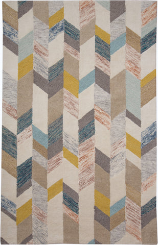 Binada Gray/Gold Tufted Area Rug