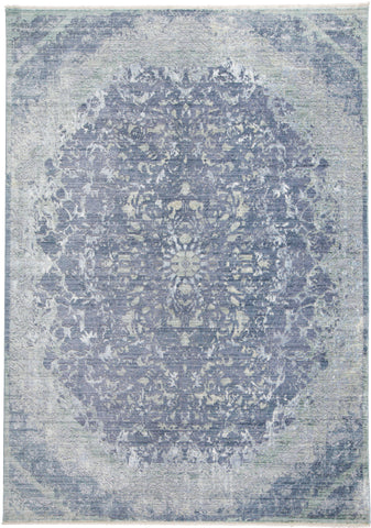 Tirza Blue/Turquoise Machine Made Area Rug