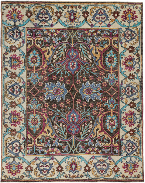 Bashyr Multi Hand Knotted Area Rug
