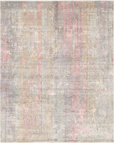 Gemstone Design Hand-Knotted Area Rug