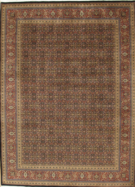 Hand-Knotted Tabriz Lamb's Wool Area Rug