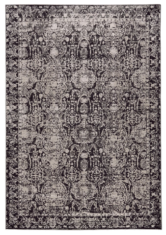 Alexander Charcoal/Gray Machine Made Area Rug