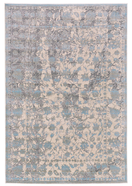 Alexander Light Blue Machine Made Area Rug