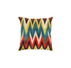 Hand-Knotted Ikat Silk Multi Color Square Pillow