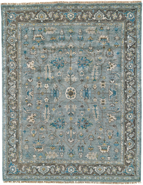 Alden Steel/Chocolate Hand Knotted Area Rug