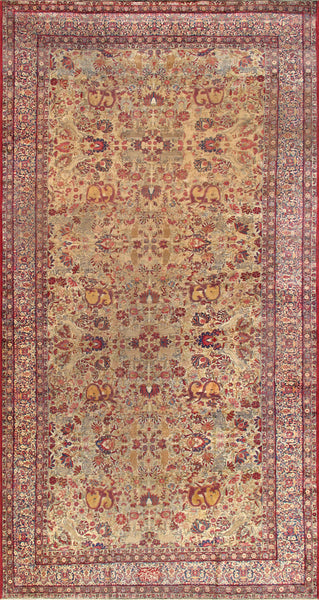 Kermanshah Collection Hand-Knotted Lamb's Wool Area Rug