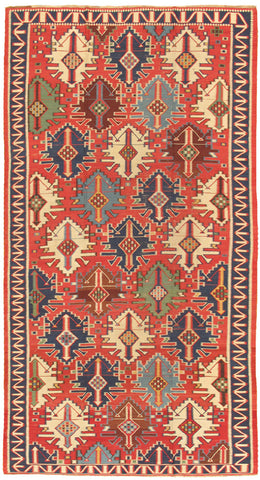 Hand-Knotted Kilim Lamb's Wool Area Rug