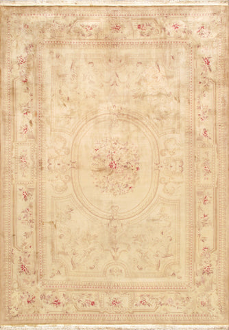 Savonnerie Collection Hand-Knotted Wool Area Rug