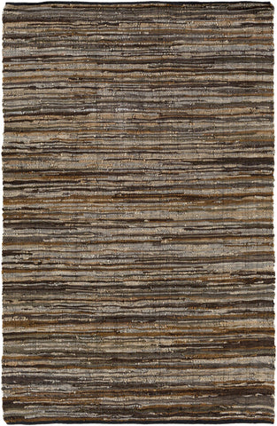 Hand Woven Log Cabin Area Rug