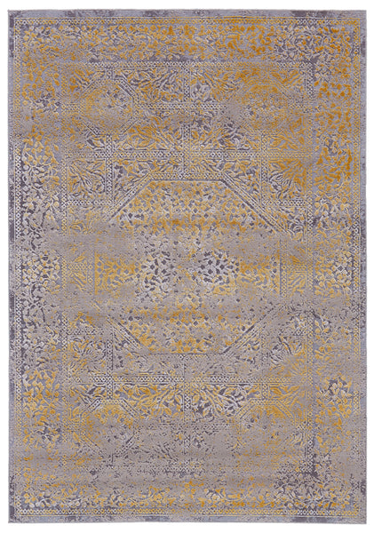 Vanhorn Gold/Sand Machine Made Area Rug