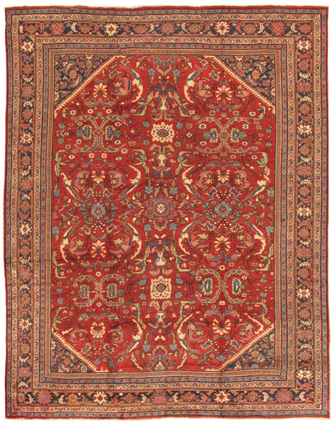 Hand-Knotted Mahal Lamb's Wool Area Rug