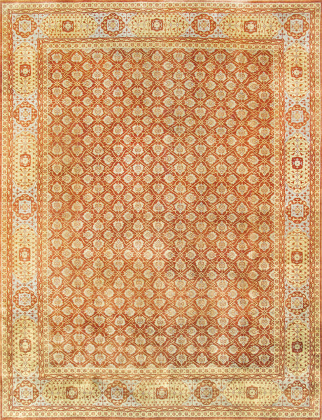 Mamluk  Hand-Knotted Lamb's Wool Area Rug