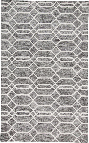 Natal Charcoal/Ivory Tufted Area Rug