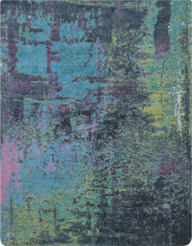 Abstract Shag Area Rug