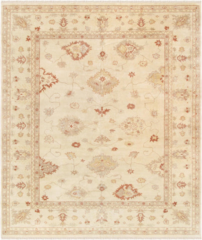Oushak Collection Hand-Knotted Lamb's Wool Area Rug