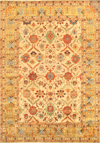 Mahal Design Hand-Knotted Area Rug